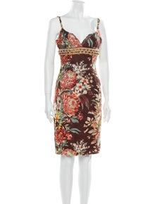 Dolce & Gabbana Linen Knee-Length Dress