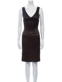 Dolce & Gabbana V-Neck Knee-Length Dress
