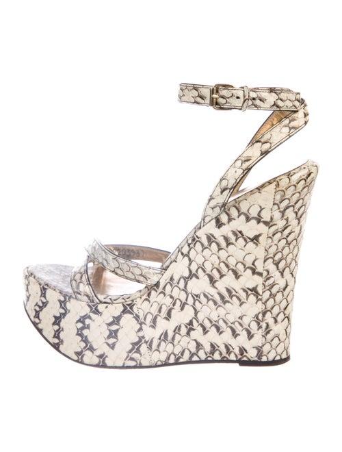 Dolce & Gabbana Snakeskin Animal Print Sandals