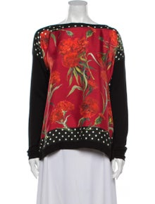 Dolce & Gabbana Silk Printed Top