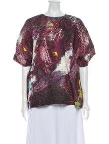 Dolce & Gabbana Silk Printed Blouse w/ Tags