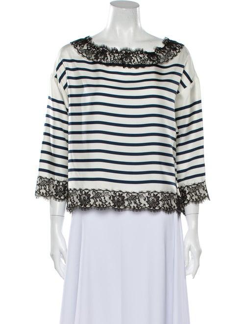 Dolce & Gabbana Silk Printed Blouse White