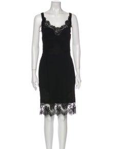 Dolce & Gabbana Lace Pattern Knee-Length Dress