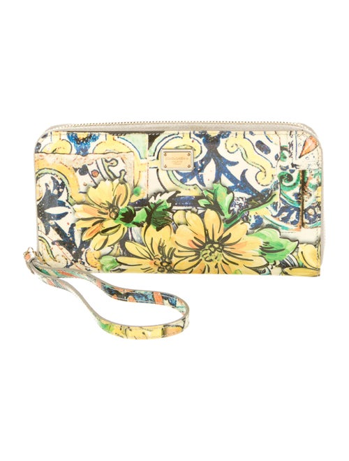 Dolce & Gabbana Floral Continental Wallet Yellow