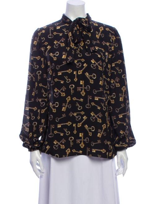 Dolce & Gabbana 2014 Silk Blouse Black