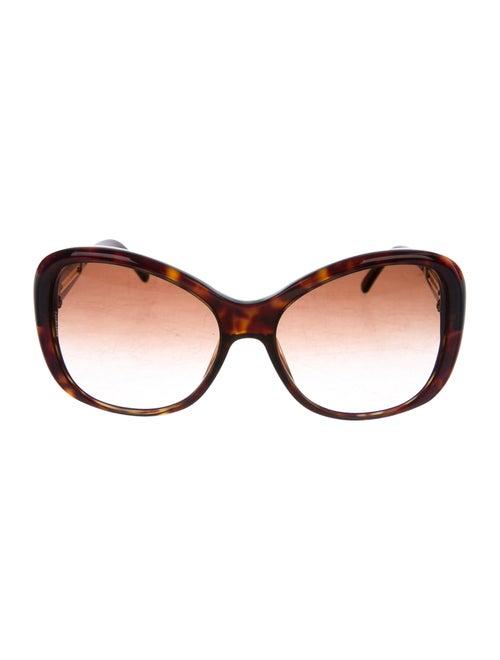 Dolce & Gabbana Madonna Gradient Sunglasses Brown