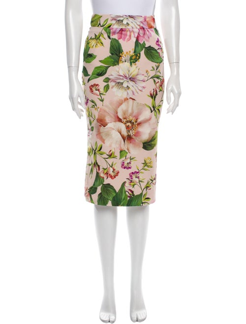 Dolce & Gabbana Silk Knee-Length Skirt