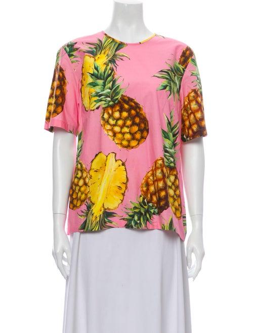 Dolce & Gabbana 2020 Pineapple T-Shirt Pink