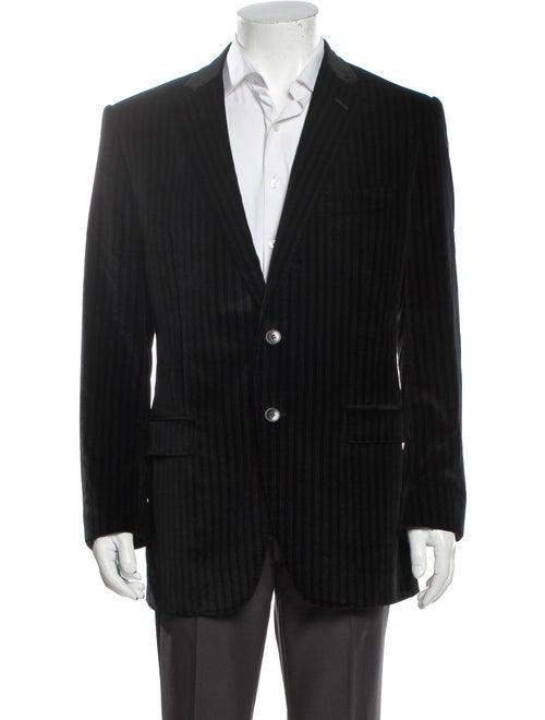 Dolce & Gabbana Striped Sport Coat Black