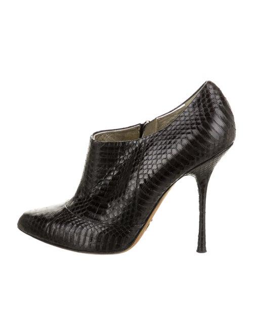 Dolce & Gabbana Snakeskin Boots Black