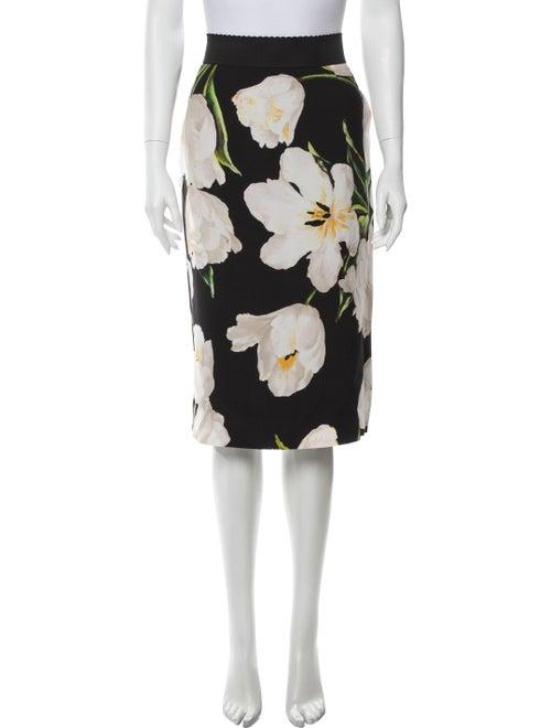 Dolce & Gabbana Tulip Knee-Length Skirt Black