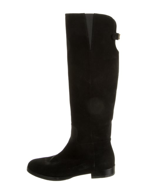 Dolce & Gabbana Suede Riding Boots Black