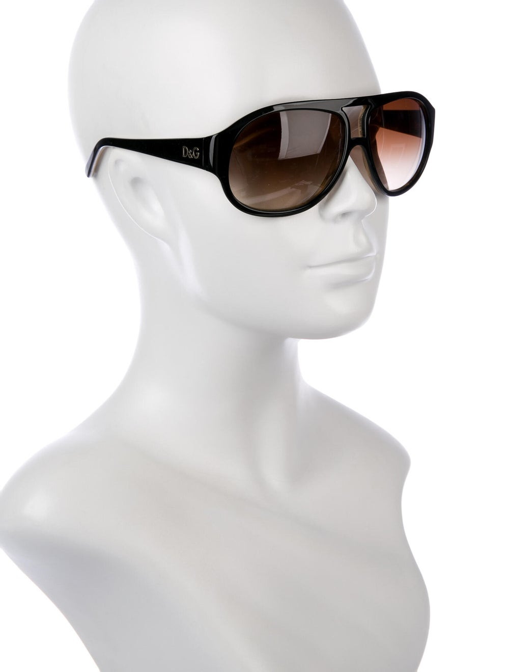 Dolce & Gabbana Gradient Aviator Sunglasses black - image 4