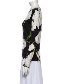 Dolce & Gabbana Cashmere Floral Print Sweater