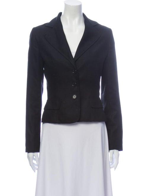 Dolce & Gabbana Silk Blazer Black
