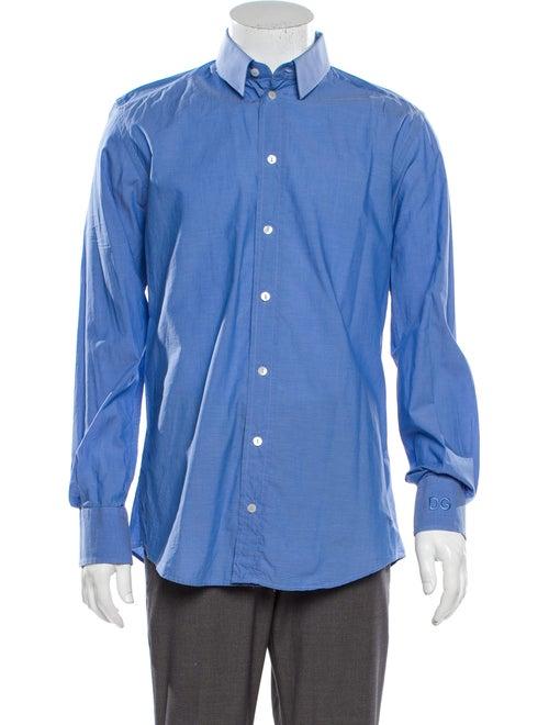Dolce & Gabbana Long Sleeve Dress Shirt Blue