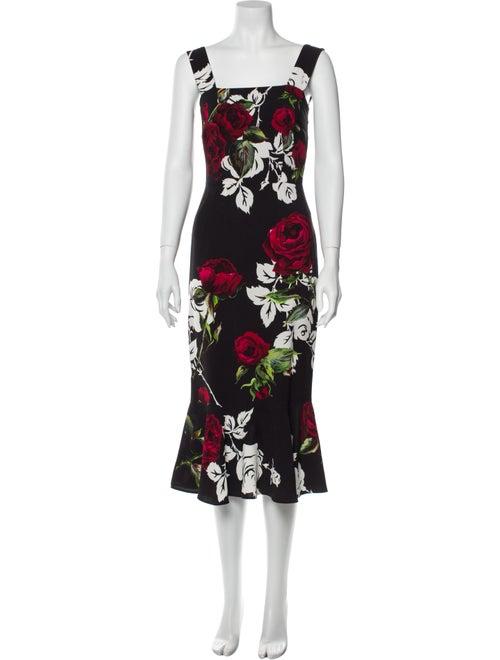 Dolce & Gabbana Rose Midi Length Dress Rose