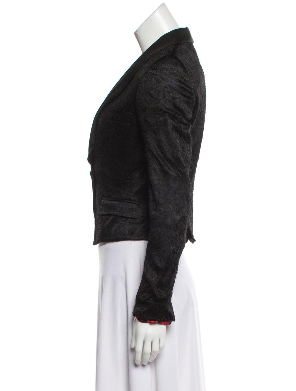 Dolce & Gabbana Lace Shawl Collar Blazer Black - image 2