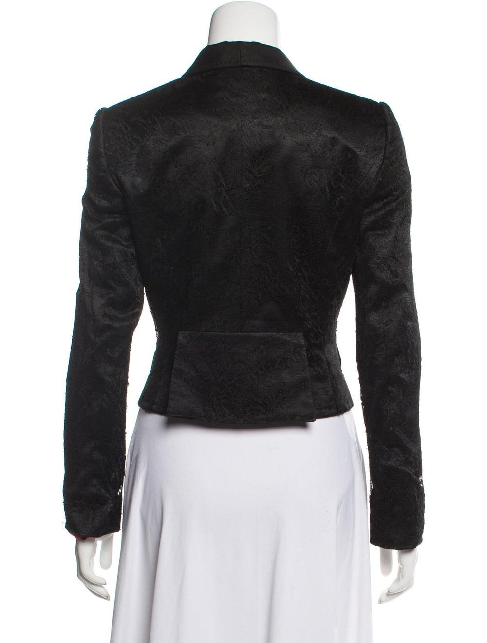 Dolce & Gabbana Lace Shawl Collar Blazer Black - image 3