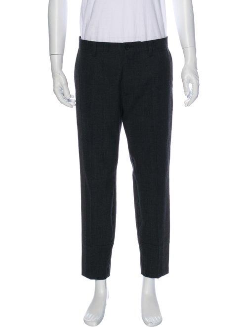 Dolce & Gabbana Tweed Pattern Dress Pants Grey