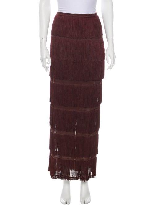 Dolce & Gabbana Fringe Trim Accent Long Skirt Brow