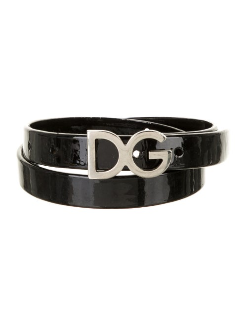 Dolce & Gabbana Patent Leather Hip Belt Black