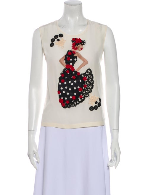 Dolce & Gabbana Silk Graphic Print Top