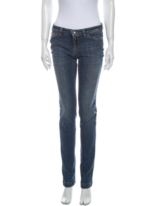 Dolce & Gabbana Low-Rise Straight Leg Jeans Blue