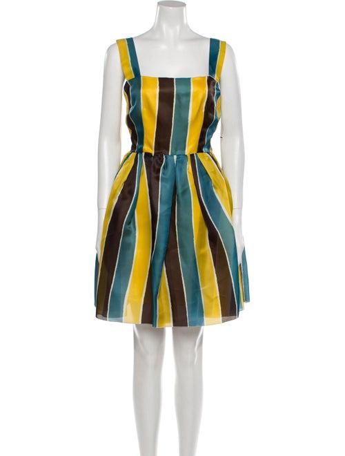 Dolce & Gabbana Silk Mini Dress Yellow