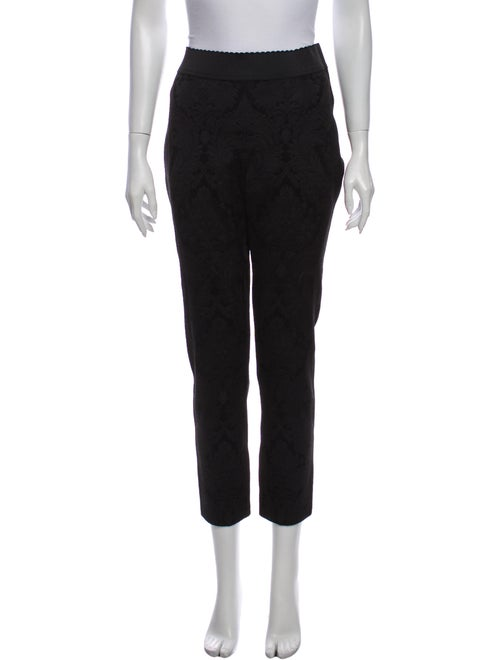 Dolce & Gabbana Straight Leg Pants Black