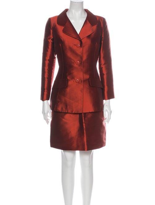 Dolce & Gabbana Silk Skirt Suit Red