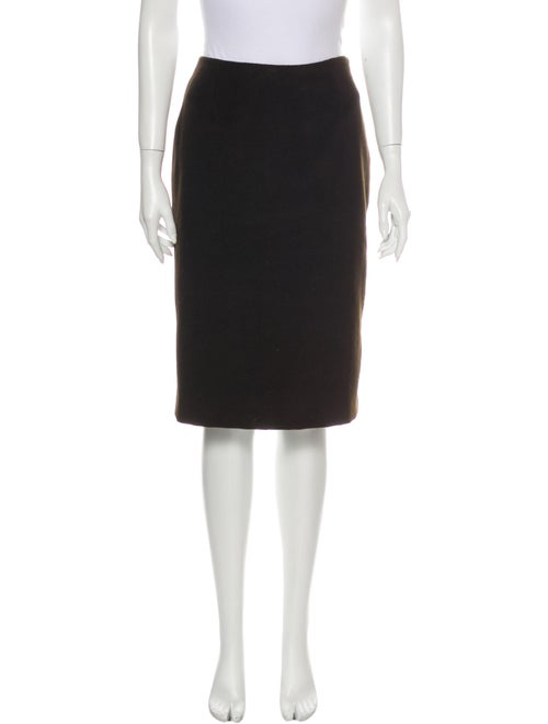 Dolce & Gabbana Angora Knee-Length Skirt Brown