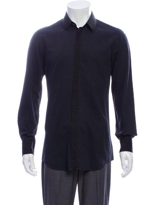 Dolce & Gabbana Woven Dress Shirt navy