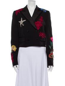 Dolce & Gabbana Virgin Wool Floral Print Blazer