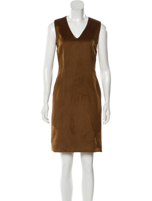 Dolce & Gabbana Angora Mini Dress Brown