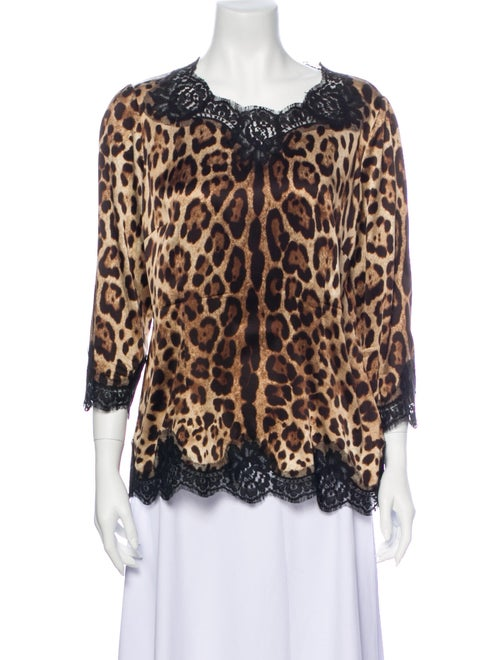 Dolce & Gabbana Silk Animal Print Blouse