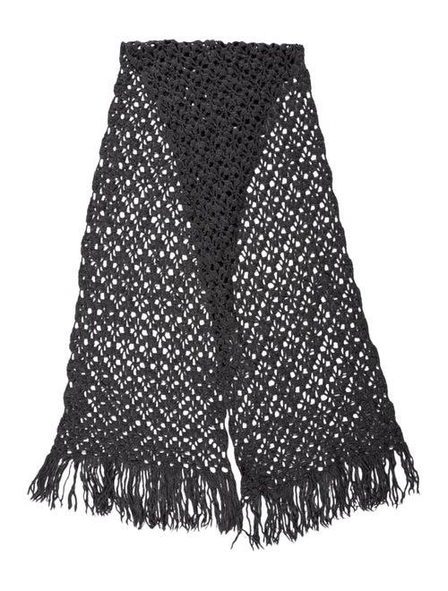 Dolce & Gabbana Wool Knit Scarf Grey