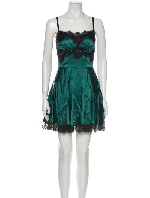 Dolce & Gabbana Silk Nightgown Green