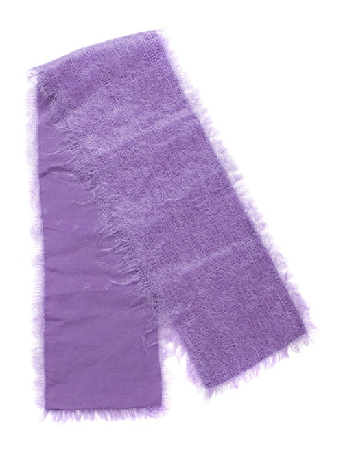 Dolce & Gabbana Mohair Scarf Purple