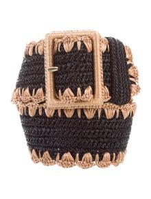 Dolce & Gabbana Straw Waist Belt