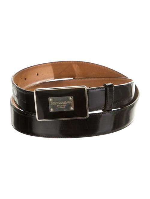 Dolce & Gabbana Patent Leather Buckle Belt