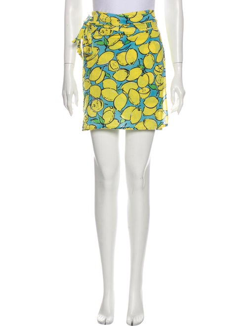 Dolce & Gabbana Printed Cover-Up Yellow
