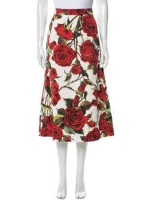 Dolce & Gabbana Floral Print Midi Length Skirt