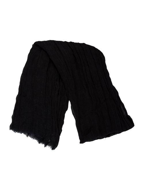 Dolce & Gabbana Knit Frayed Scarf Black - image 1