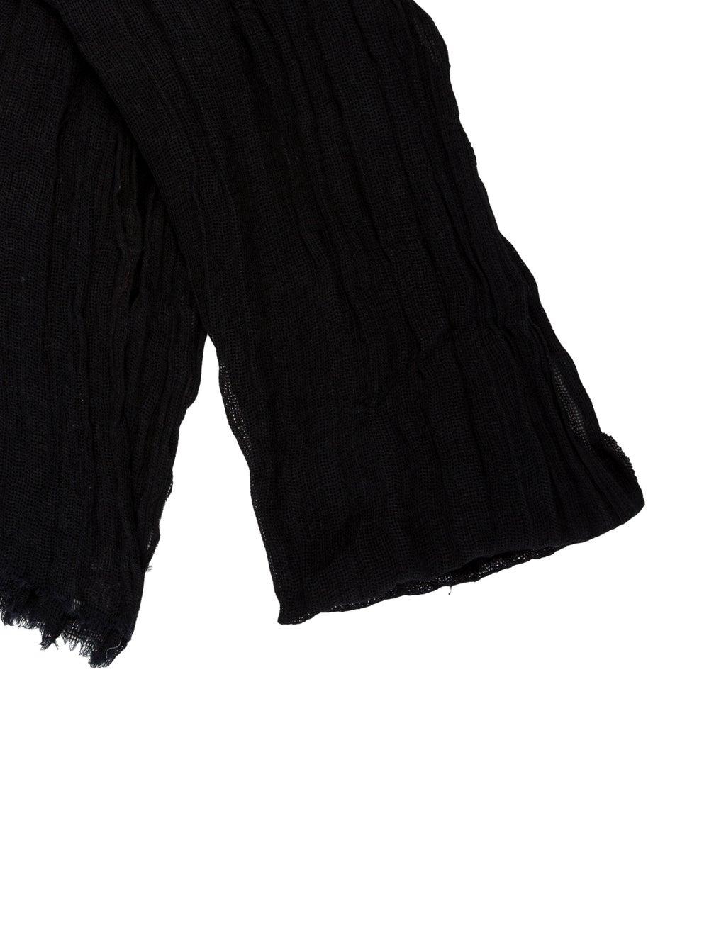 Dolce & Gabbana Knit Frayed Scarf Black - image 2