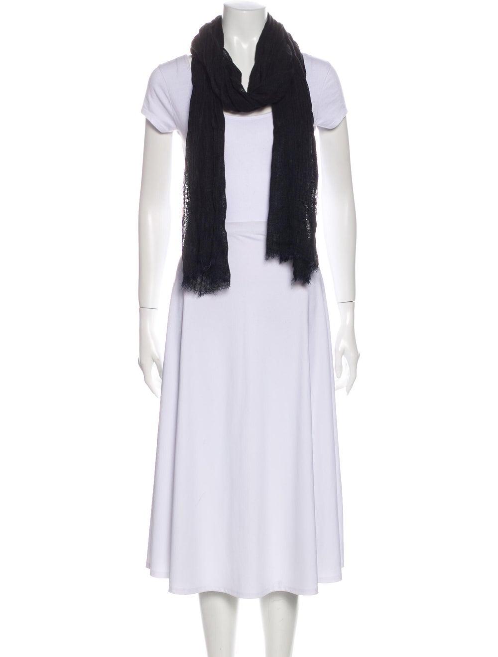 Dolce & Gabbana Knit Frayed Scarf Black - image 3