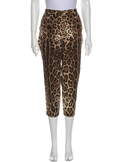 Dolce & Gabbana Animal Print Straight Leg Pants