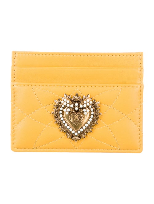 Dolce & Gabbana Leather Card Holder Yellow