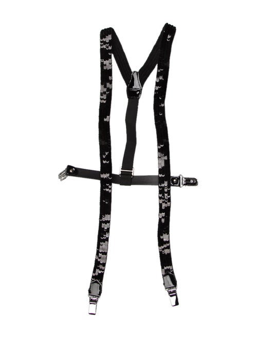 Dolce & Gabbana Sequin Suspenders Black
