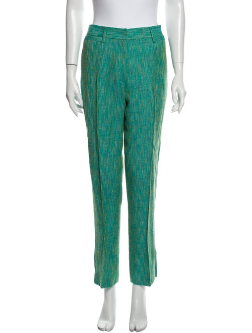 Dolce & Gabbana Tweed Pattern Straight Leg Pants G